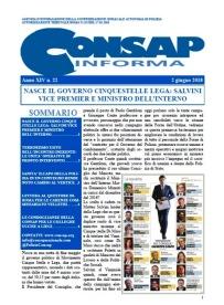 CONSAP Informa n. 22 del 2 Giugno 2018