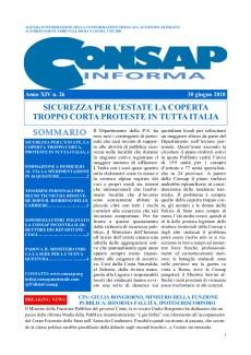 CONSAP Informa n. 26 del 30 Giugno 2018