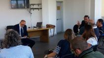 Momenti delle votazioni al Congresso Locale CONSAPall'Ufficio Divisione Immigrazione della Questura di Roma