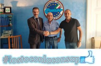 Nella foto da sinistra: Guerrisi - Segretario Generale Aggiunto Roma, Napolitano e Magliano della CONSAP al Quirinale