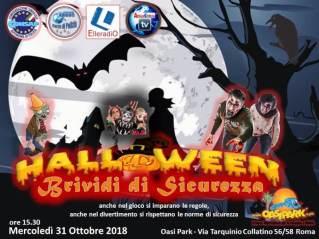 Brividi di Sicurezza - Halloween - Mercoledì 31 Ottobre 2018 dalle ore 15.30 all'Oasi Park