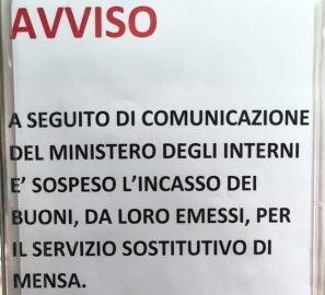 """Poliziotti senza vitto, il Ministero """"chiude il rubinetto"""""""