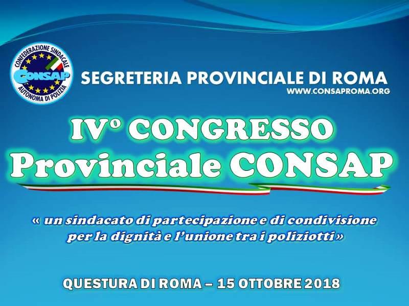 IV° Congresso Provinciale CONSAP