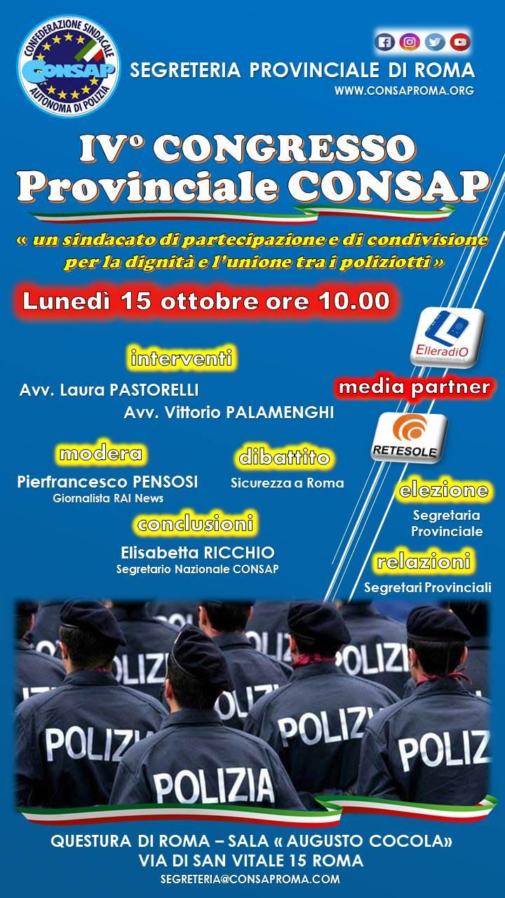 IV° Congresso Provinciale CONSAP Roma