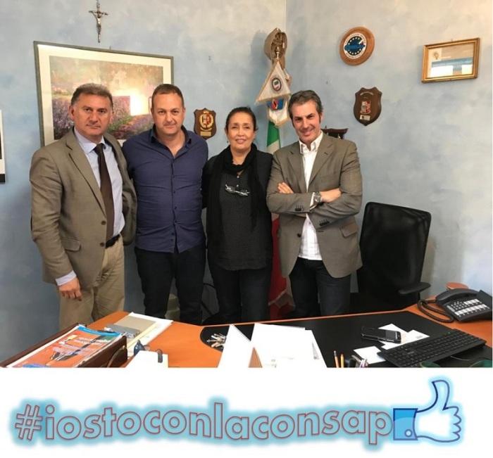 Segreteria Generale CONSAP, nella foto da sinistra: Bortone, Miccinilli, Ricchio e Guerrisi