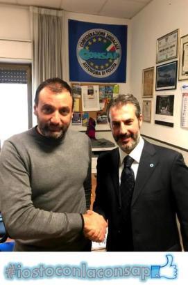 Distaccamento Polizia Stradale Colleferro (Roma) - Il neo Segretario Locale Lucio GIULIANI con Gianluca GUERRISI Segretario Generale di Roma della CONSAP