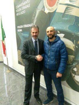 Nella foto da sinistra: il Segretario Generale di Roma Guerrisi con il Coordinatore Provinciale Quaglieri