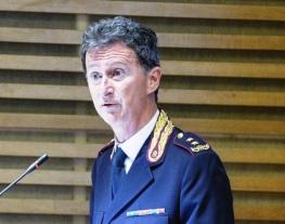 Il Dirigente Generale dr Michele Rocchegiani, Direttore dell'Ispettorato di Pubblica Sicurezza presso la Presidenza del Consiglio dei Ministri