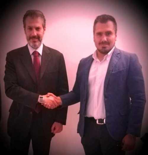 Il neo Segretario Locale CONSAP Comm.to P.S. Trevi/Campo Marzio POMPEO con il Segretario Generale CONSAP di Roma GUERRISI