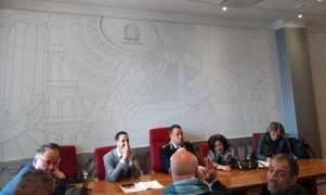 Sala Prisco Palumbo della Questura di Roma, Ing. Di Romualdo, dr Improta e dott.ssa Macrì