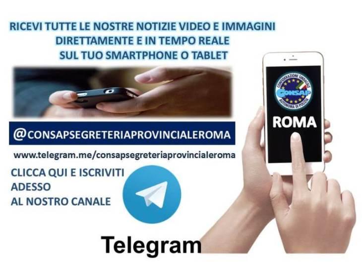 Canale Telegram CONSAP Roma