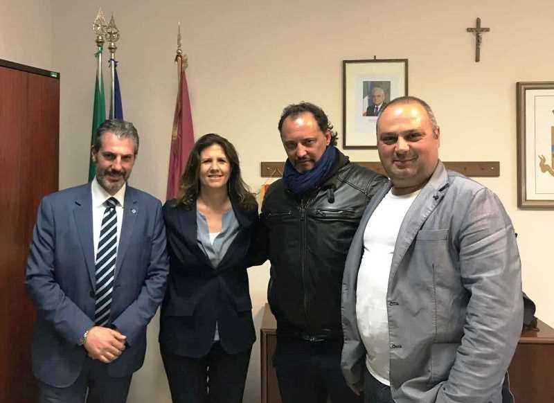 Ufficio del Questore Vicario, nella foto da sinistra: Guerrisi, il Vice Questore Vicario dott.ssa Matarazzo, Salvatori e Castelli