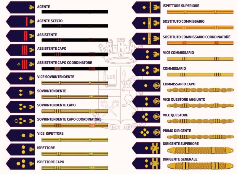 Nuovi Distintivi di Qualifica del Personale della Polizia di Stato