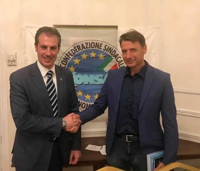 Nella foto da sinistra: il Segretario Generale di Roma GUERRISI con il neo Coordinatore Provinciale di Roma PICANO