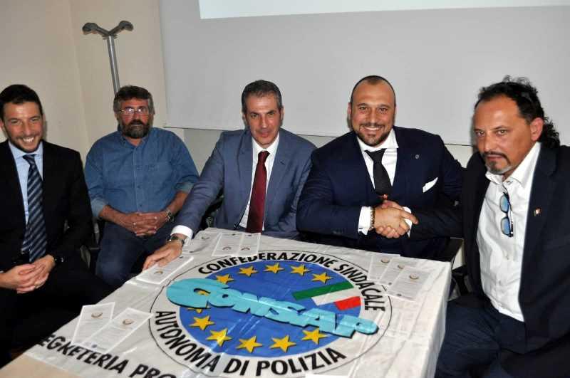 Nella foto la delegazione della CONSAP dopo l'accordo con l'U.P.T.M.