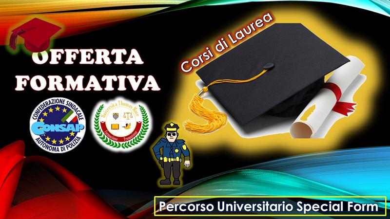 Percorso Universitario Special Form: offerta formativa per gli iscritti alla CONSAP