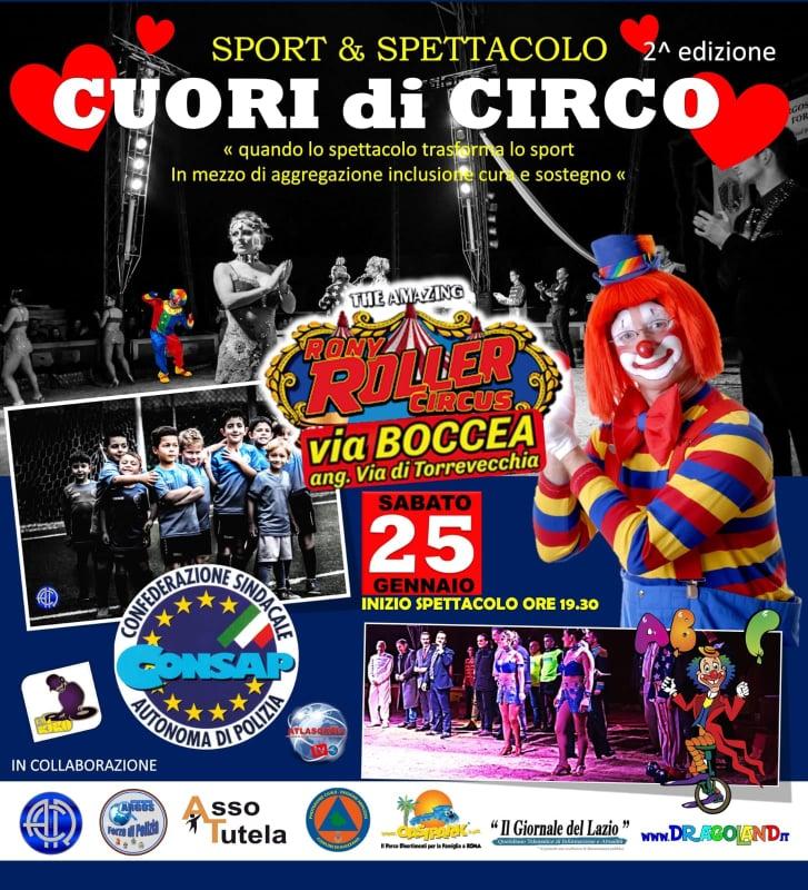 CUORI di CIRCO II edizione – Sabato 25 Gennaio 2020 – Roma – Rony Roller Circus