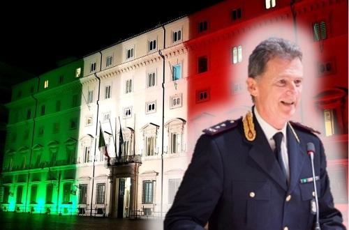 """Il Direttore dell'Ispettorato di P.S. """"Palazzo Chigi"""", Dirigente Generale della Polizia di Stato dr Michele ROCCHEGIANI"""