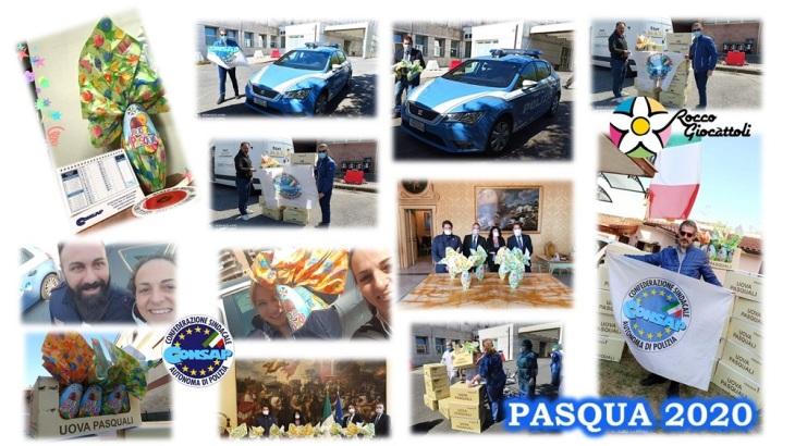 Il sindacato di Polizia CONSAP di Roma e Rocco Giocattoli consegnano le Uova di Pasqua ai poliziotti della capitale