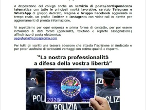 Agenti in Prova Comunicato - CONSAP Roma