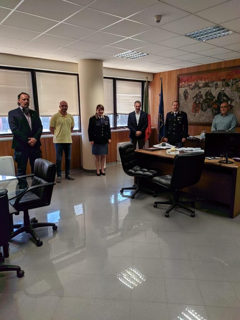 Compartimento Polizia Stradale Lazio - Incontro CONSAP dr Teseo DE SANCTIS