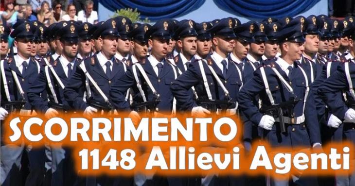 Scorrimento 1148 Allievi Agenti Polizia di Stato