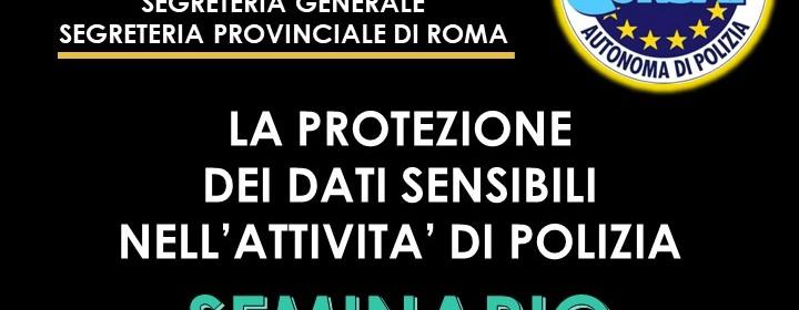 GDPR E IL TRATTAMENTO DEI DATI SENSIBILI NELL'ATTIVITA' DI POLIZIA
