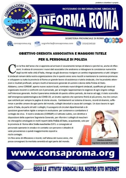 Informa Roma Novembre 2020 (consaproma.org)