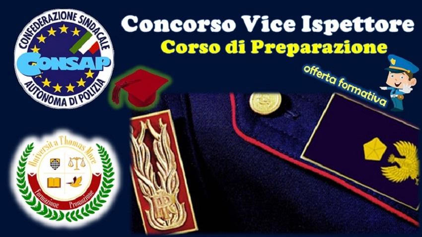 Corso di Preparazione Concorso Vice Ispettore - CONSAP -