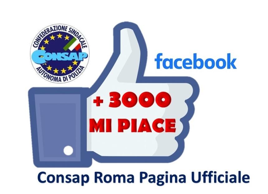 3mila like Consap Roma Pagina Ufficiale- Facebook