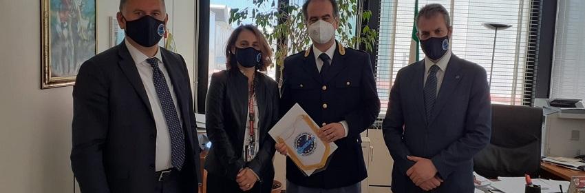 CONSAP Polaria Fiumicino : Casario BORTONE, Giovanna COLELLA, il dr Giovanni CASAVOLA e Gianluca GUERRISI