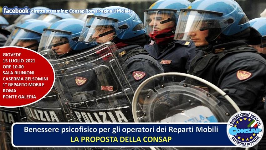Benessere psicofisico per gli operatori dei Reparti Mobili - LA PROPOSTA DELLA CONSAP - Convegno presso il I° Reparto Mobile ROMA